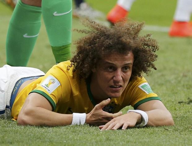 David Luiz Brasil x Holanda (Foto: Reuters)