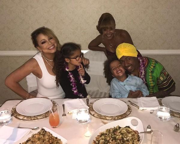 Mariah e família (Foto: Reprodução)