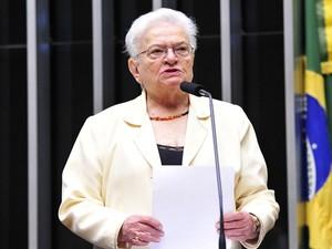 A deputada Luiza Erundina (PSOL-SP) (Foto: Luis Macedo/Câmara dos Deputados)