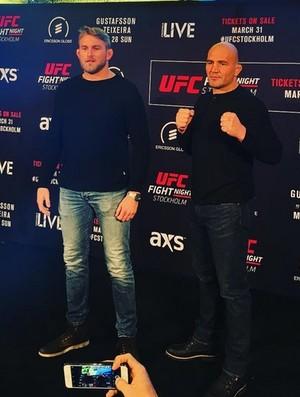 Gustaffson e Glover UFC Estocolmo (Foto: Reprodução / Instagram)