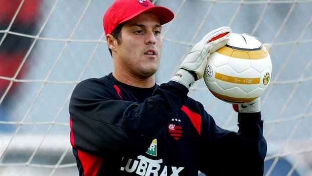 Julio Cesar Flamengo treino (Foto: Alexandre Cassiano / O Globo)