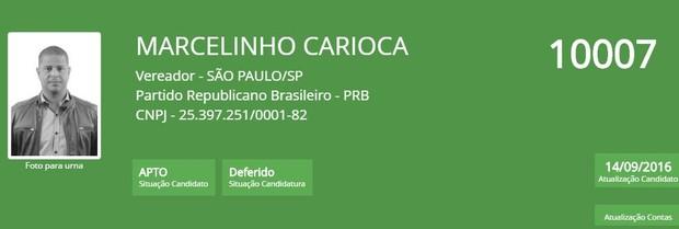 Marcelinho carioca (Foto: Reprodução/TSE)