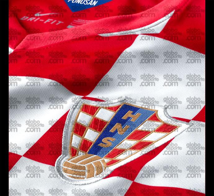 Camisa Croácia detalhe