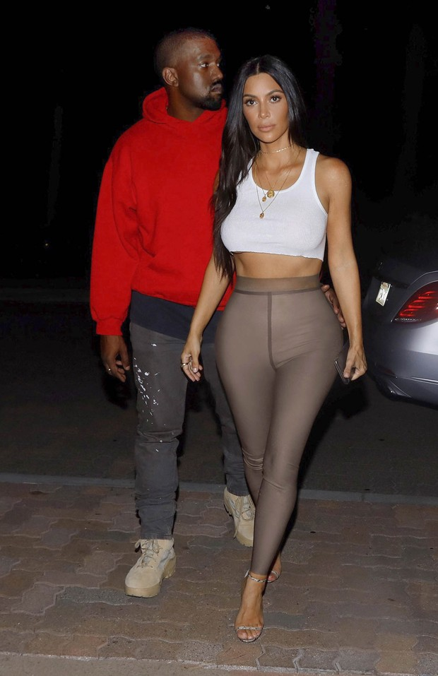 Kim Kardashian e Kanye West  (Foto: GrosbyGroup)