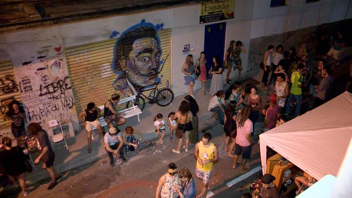 Arte, música e uma galera boa movimentam rua do centro de Vitória aos domingos (Foto: Divulgação / TV Gazeta ES)
