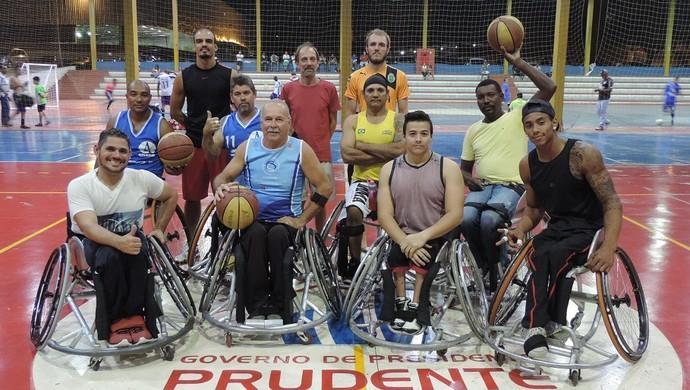 Basquete sobre rodas de Prudente - Adapp (Foto: João Paulo Tilio / GloboEsporte.com)
