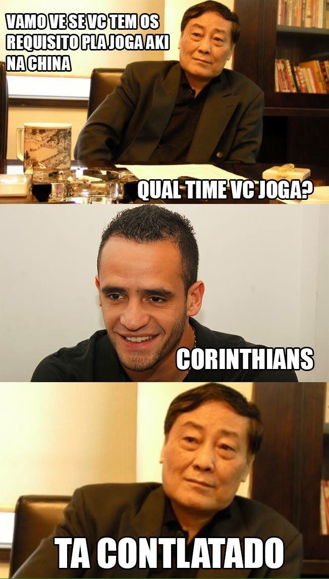 Zoeira China Corinthians