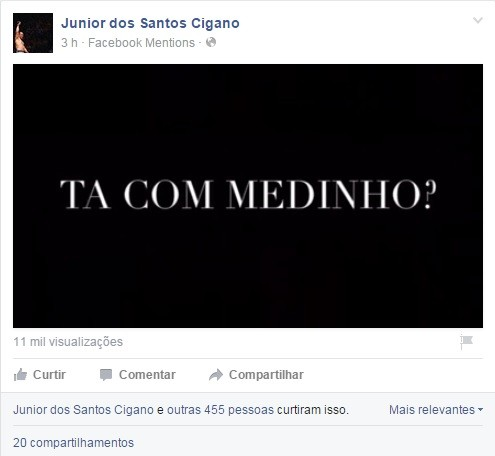 Junior Cigano Fabricio Werdum Facebook