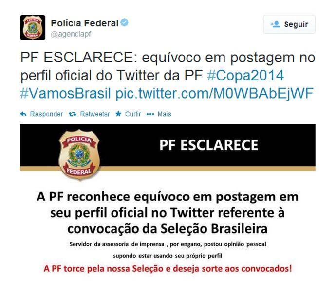 Print - twitter polícia federal