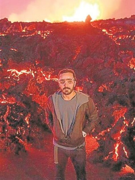 Felipe UFO no vulcão Bardarbunga (Foto: Arquivo pessoal)