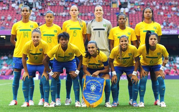 Seleção feminina Brasil jogo Londres (Foto: Getty Images)