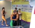 Amigas, Etiene e Daiene fazem índice nos 100m borboleta e vibram juntas