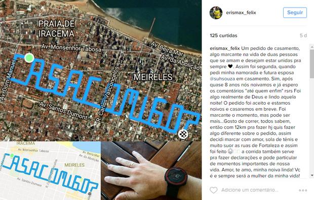 Erismax Felix em post no Instagram (Foto: Reprodução)