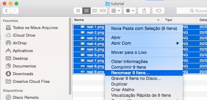 Descubra como renomear vários arquivos de uma vez no Mac OS X (Foto: Reprodução/Edivaldo Brito)