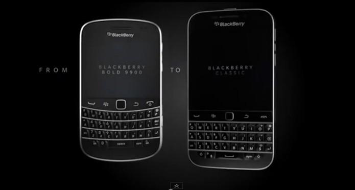Blackberry evolui pouco em design (Foto: Reprodução)