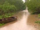 Após granizo, cheia de rio ameaça moradores de Taquara, no RS