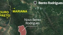 Terreno do novo Bento Rodrigues é definido (Arte/G1)