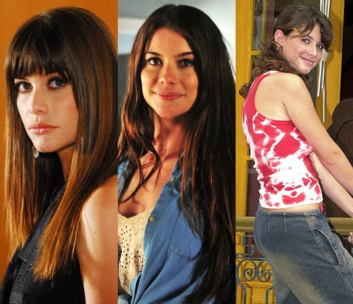 Alinne Moraes com diferentes estilos em sua carreira (Foto: TV Globo)