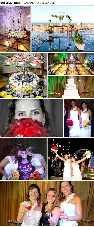 Mosaico Casamento Larissa e Lili (Foto: Editoria de Arte)