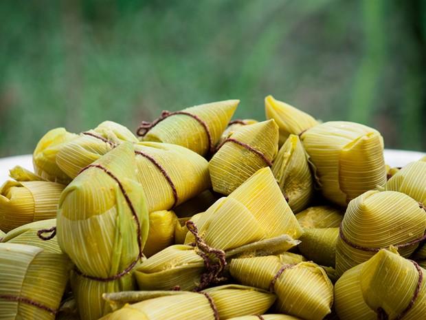 Pamonha de milho-verde em verso light (Foto: Divulgao)