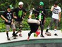 Equipes tomam forma para desafio de skate em Floripa; veja fotos