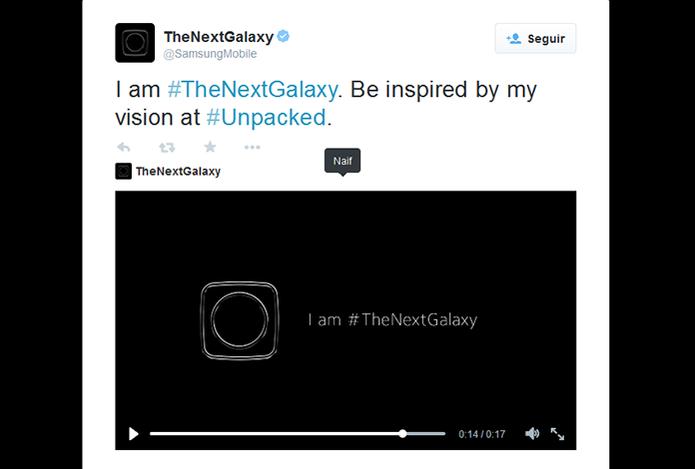 Samsung libera teaser do novo Galaxy pelo Twitter (Foto: Reprodução/Barbara Mannara)