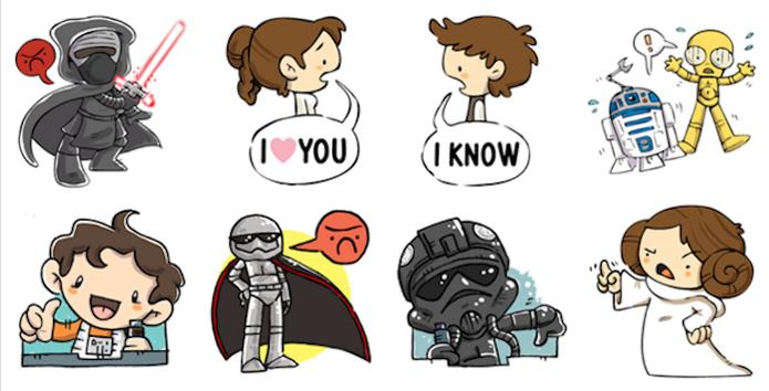 Star Wars: O despertar da força em novas figurinhas no Facebook (Foto: Divulgação/Facebook)