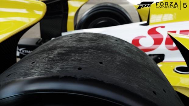 Carro de Fórmula Indy virtual em 'Forza 5' para Xbox One simula até desgaste de pneus (Foto: Divulgação/Microsoft)