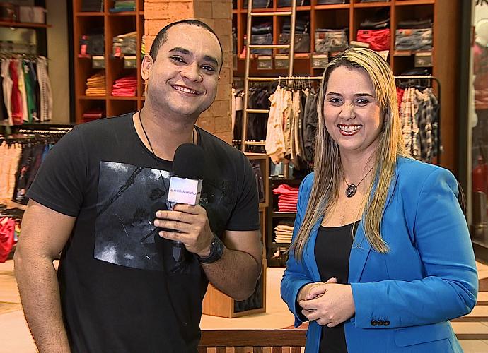 Netiqueta com Menilson Filho e a consultora Cristiane Barreto (Foto: Reprodução / TV Sergipe)