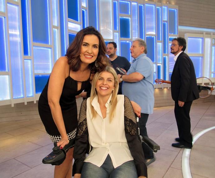 Fátima e convidada que participou do clipe do Lucas Lucco (Foto: Viviane Figueiredo Neto/Gshow)