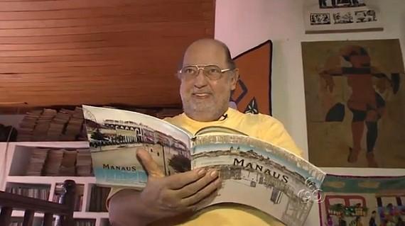Escritor português Joaquim Marinho veio para Manaus ainda criança (Foto: Amazônia TV)