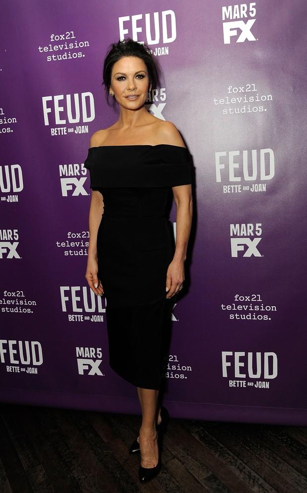 Catherine Zeta-Jones em evento em Nova York, nos Estados Unidos (Foto: Rabbani and Solimene/ Getty Images/ AFP)