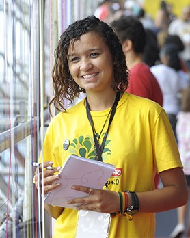 Taís Fernandes na Rio+20 (Foto: Guanabaratejo)