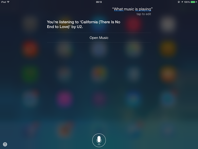 Descobrindo o nome de uma música com a Siri (Foto: Felipe Alencar/TechTudo)