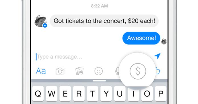Botão de pagamento no Messenger (Foto: Divulgação/Facebook)