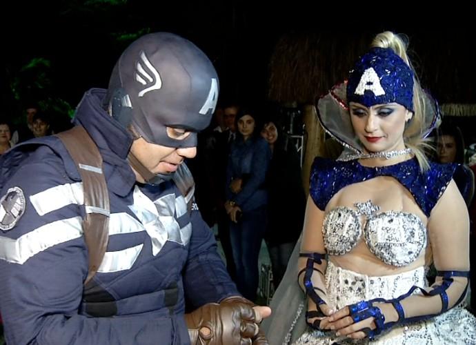 'Revista' mostrou o casamento dos sonhos de qualquer super-herói  (Foto: Rio Sul Revista)