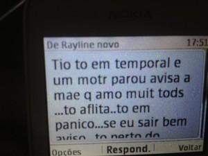 Mensagem 3 desaparecida (Foto: Luana Le�o/G1)