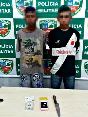 Adolescentes foram apreendidas na noite de quinta-feira (5), em Manaus (Foto: Divulgação/ Polícia Militar)