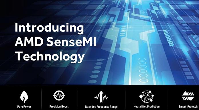 SenseMI conta com uma série de ferramentas que racionalizam o consumo e funcionamento do novo processador da AMD (Foto: Divulgação/AMD)