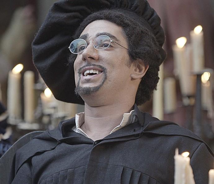 Marcelo Adnet interpreta Martinho Lutero da Vila (Foto: TV Globo)