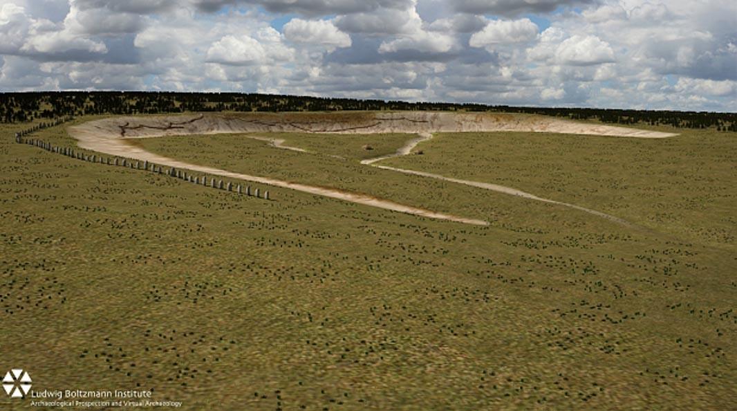 monumento era acompanhado por um fosse com profundidade de 16 metros (Foto: Reprodução)