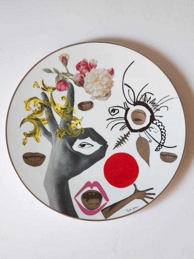 Ilustradora faz colagens sobre cerâmica. Confira! (Foto: Divulgação)