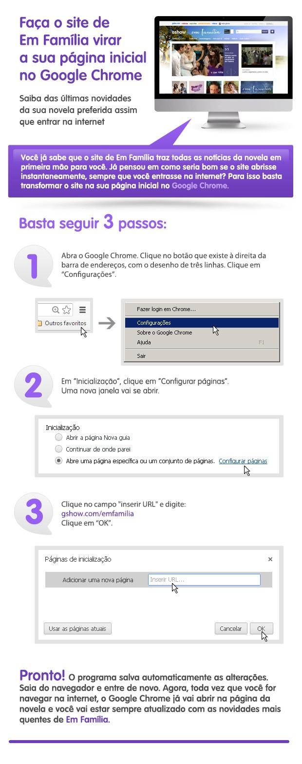 Em Família - Google Chrome (Foto: TV Globo)