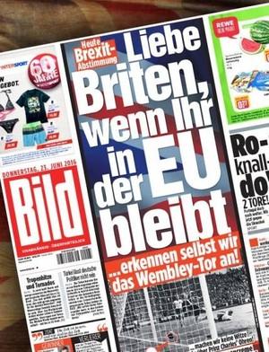 Capa do jornal Bild sobre o Reino Unido (Foto: Reprodução)
