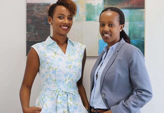 As empreendedoras Celine Uwineza e Denise Umunyana (Foto: Girls On The Road)