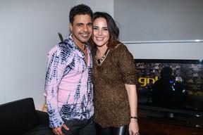 Zezé Di Camargo e Wanessa em camarim de show em São Paulo (Foto: Manuela Scarpa/ Foto Rio News)