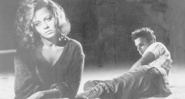 Norma Bengell e Jece Valadão na clássica cena de 'Os Cafajestes' (Foto: Divulgação)