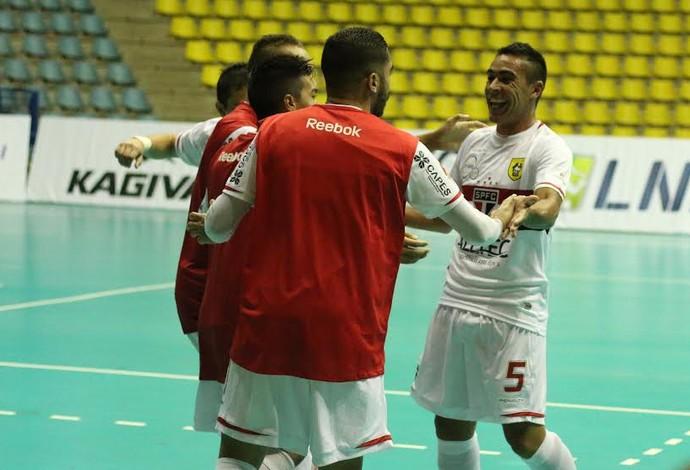 São Paulo Floripa Liga Nacional de Futsal (Foto: Yuri Gomes/Divulgação)