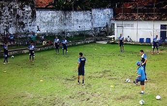 Pelo 2º dia chuvas atrapalham treinos do Confiança para encarar Fortaleza