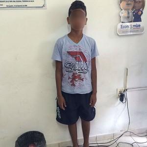 Criança foi encaminhada para a delegacia de Maragogi (Foto: Divulgação/Corpo de Bombeiros)
